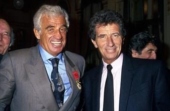 Jean-Paul Belmondo et Jack Lang