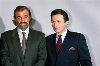 Jean-Paul Belmondo et Michel Drucker