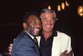 Jean-Paul Belmondo et Pelé