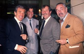 Jean-Paul Belmondo, Pierre Vernier, Jean Rochefort et Philippe Noiret