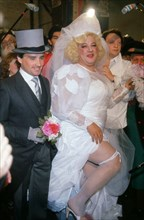 Coluche and Thierry Le Luron's Fake Wedding