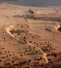 Désert aux abords d'Alexandrie, vue aérienne
