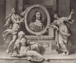 Portrait en médaillon (Cardinal Mazarin ?)