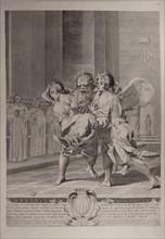 Saint Pierre de Nolasque porté à l'office divin par deux anges
