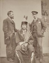 Portrait of 'Red Indian' John Pelcher (left)