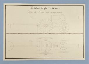 Traité d'artillerie : Affût de 24 sur son avant-train