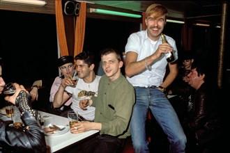 Soirée d'anniversaire du journaliste Jörg Hoppe, 1983