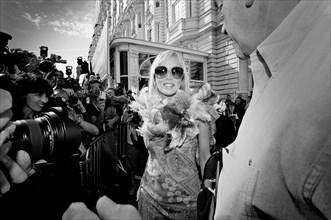 05/16/2005. 58th Cannes film festival - Sharon Stone pour Studio Magazine.
