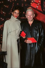 "09/27/2001. Premiere of Baz Luhrmann's movie ""Moulin Rouge!"" in Paris."