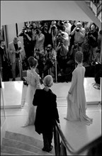 07/09/2002. Fall-winter 2002-03 Haute Couture collections: the backstage of Chanel's fashion show