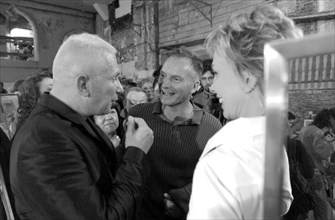 07/11/2002. Fall winter 2002-03 collections. The backstage of Jean-Paul Gaultier's fashion show
