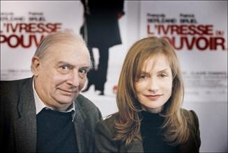 """31/01/2006. Conference de presse du film """"L'ivresse du pouvoir"""" de Claude Chabrol."""