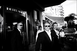 05/00/2006. Life in Cannes outside the Palais des Festivals.