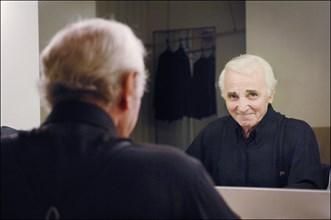 Charles Aznavour et sa fille Katia