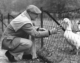 Clark Gable And A Goose