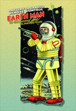 Battery Operated Earth Man 1950