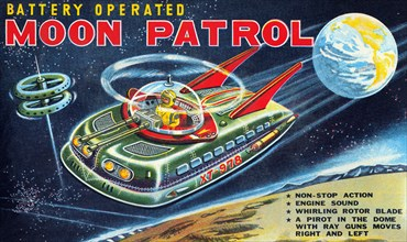 Battery Operated Moon Patrol XT-978 1950