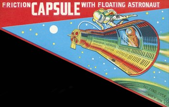 Friction Capsule with Floating Astronaut 1950