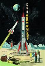 Friction Moon Rocket 1950