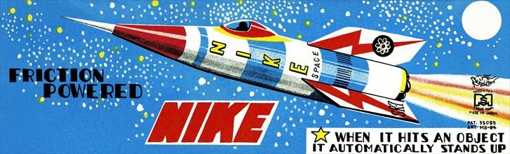 Friction Powered Nike 1950