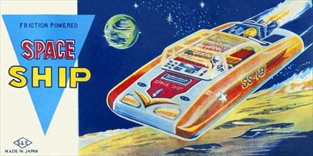 Friction Powered Space Ship SS-18 1950