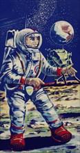 Moon Astronaut 1950