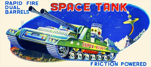 Rapid Fire Dual Barrell Space Tank 1950