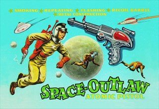 Space Outlaw Atomic Pistol 1950