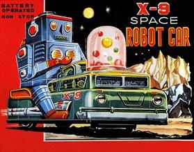 X-9 Space Robot Car 1950