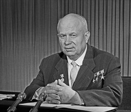 First Secretary Of The Central Committee Of The CPSU Nikita Khrushchev On The Radio And Television