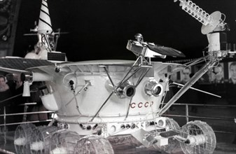 The lunokhod 1 moon rover, luna 17 mission, 1971.