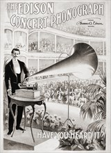 Advertisement for The Edison Concert Phonograph from 1899.