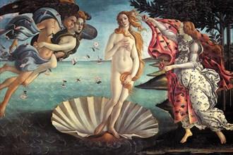 Botticelli: Birth of Venus, 1485