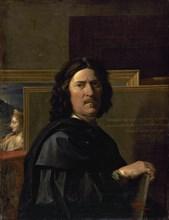 Nicolas Poussin (1594-1665). Painter of the classical French Baroque style. Self-portrait. 1650. Louvre Museum. Paris. France.