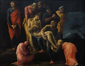Transport of Christ to the grave.