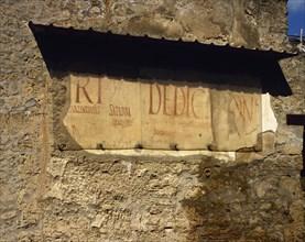 Roman Graffiti on the wall.