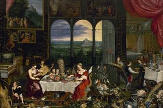 Jan Brueghel the Elder, Taste, Hearing and Touch, ca