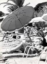 Bain de soleil dans les années 60