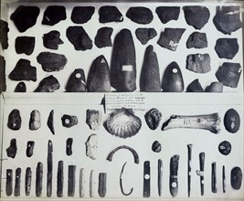 Collection of prehistoric implements, British Museum