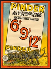 Poster for the Cirque Pinder