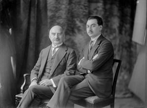 Calouste Gulbenkian et son fils