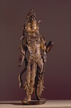 Statue of Bodhisattva Guanyin, Goddess of Mercy, decorated with chased ornaments