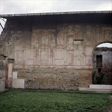 The Stabian Baths, the oldest of several baths in Pompeii