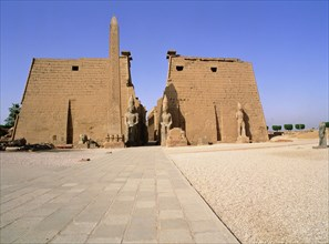 The pylon and colossi of Ramesses II at Luxor