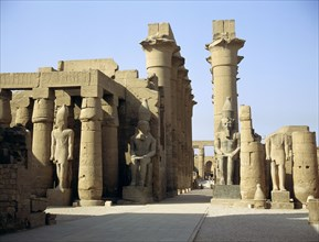 Statues of Amenophis III later reused by Ramesses II