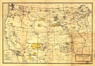 Indian Reservations West of the Mississippi -1923 1923