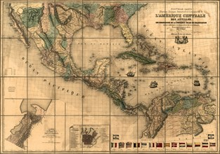 Central America & The Antilles - 1845 1845