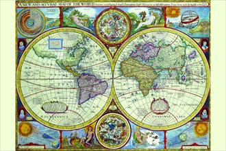 New & Accurate Map of the World; a Stereographic Projection 1646
