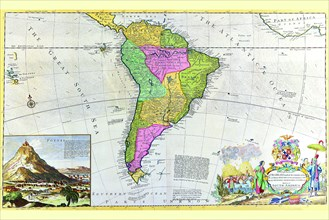 Antique Map of South America 1715