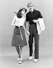 Fashionable Couple Golf Attire